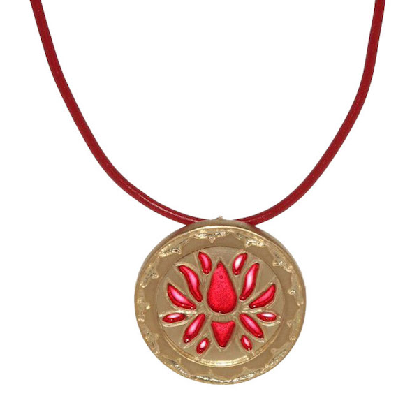 Red Lotus Flower Necklace
