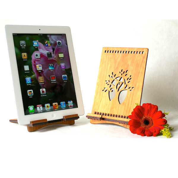Tree of Life iPad Stand Handcrafted by Artisan Hannah Simons