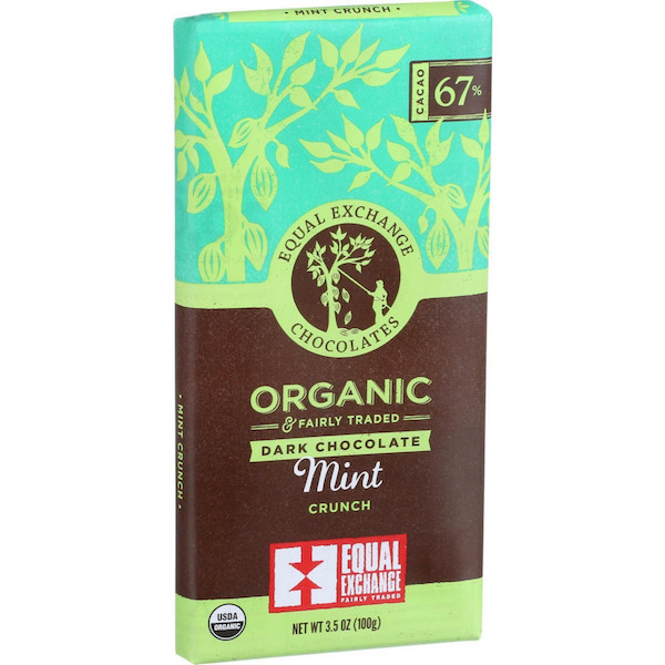 Fair Trade Equal Exchange Organic, Kosher Mint Crunch Chocolate